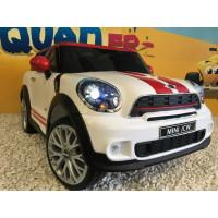 Mini Paceman All4 John Cooper Works Ligh White avec télécommande parentale 2.4 GHz, voiture électrique pour enfant 12 volts