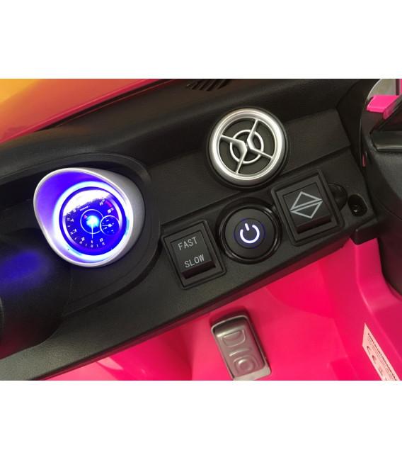 Mercedes A45 Turbo AMG Rose, voiture électrique pour enfant 12 volts
