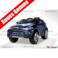 BMW X6, Bleu Métallisée, Version Luxe, voiture électrique pour enfant, 12 volts, 2 moteurs