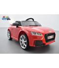 Audi TT RS Roadster 12 volts Rouge Catalunya, voiture électrique enfant télécommande parentale 2.4 GHZ, 12 volts, 2 moteurs
