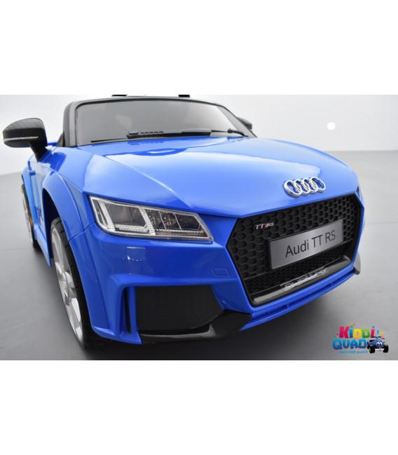 Audi TT RS Roadster 12 volts Bleu Ara Cristal, voiture électrique enfant télécommande parentale 2.4 GHZ, 12 volts, 2 moteurs