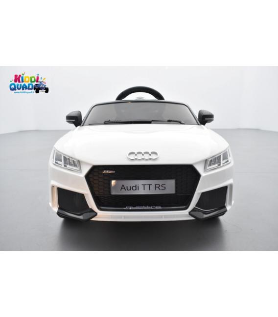 Audi TT RS Roadster 12 volts Blanc Glacier, voiture électrique enfant télécommande parentale 2.4 GHZ, 12 volts, 2 moteurs