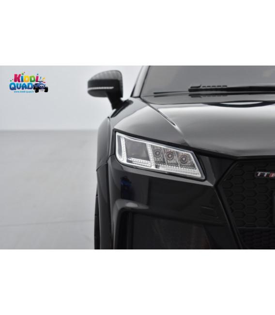 Audi TT RS Roadster 12 volts Noir Panthère, voiture électrique enfant télécommande parentale 2.4 GHZ, 12 volts, 2 moteurs