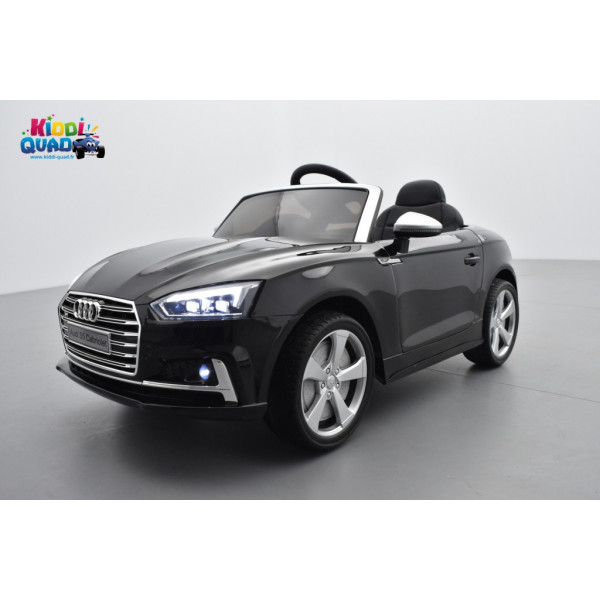 audi s5 12 volts lectrique pour enfant noir m tallis. Black Bedroom Furniture Sets. Home Design Ideas