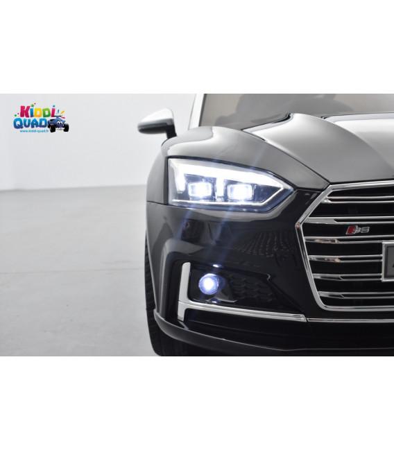 Audi S5 Coupé TFSI 12 volts Noir Mythic, voiture electrique enfant télécommande parentale 2.4 GHZ, 12 volts, 2 moteurs