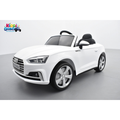 Audi S5 Coupé TFSI 12 volts Blanc Glacier, voiture electrique enfant télécommande parentale 2.4 GHZ, 12 volts, 2 moteurs