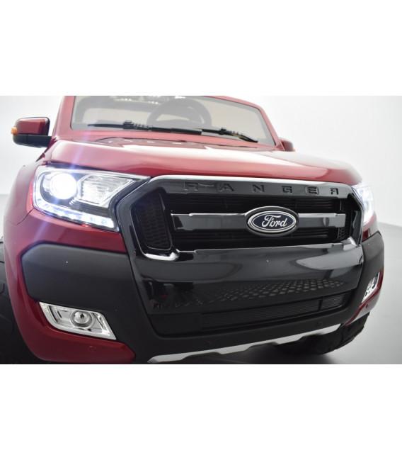 Ford Ranger Phase 2 Rouge Cuivre métallisé avec télécommande parentale 2.4 GHz, voiture électrique pour enfant 2 places, 12 volt