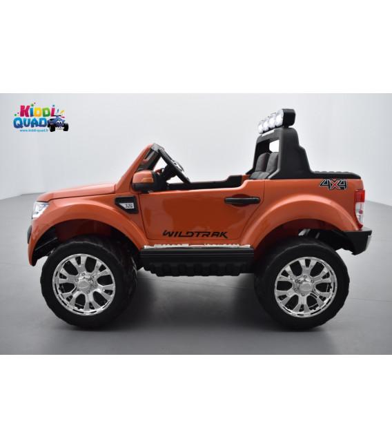 Ford Ranger Phase 2 Orange Pride métallisé avec télécommande parentale 2.4 GHz, voiture électrique pour enfant 2 places, 12 volt