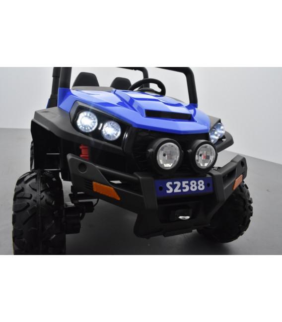 Buggy 12v14Ah 4 roues motrices de 45 watts en gomme deux places, voiture électrique enfant