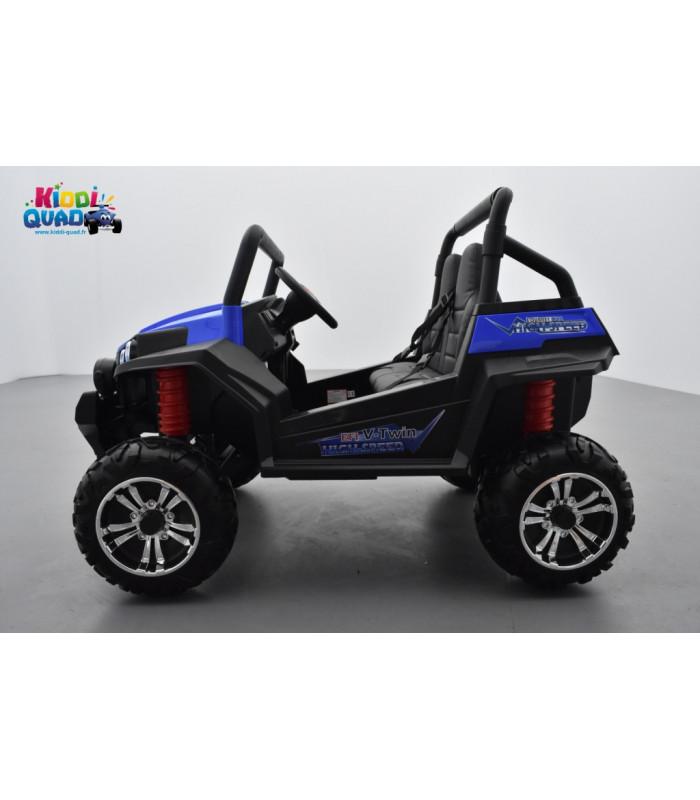 buggy 12v14ah 4 roues motrices de 45 watts en gomme deux places voiture lectrique enfant. Black Bedroom Furniture Sets. Home Design Ideas