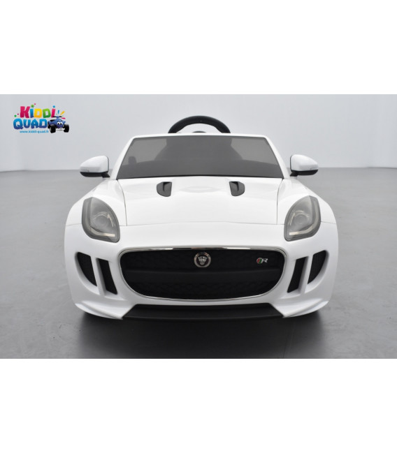 Jaguar F-Type Fuji White, voiture électrique pour enfant 12 volts