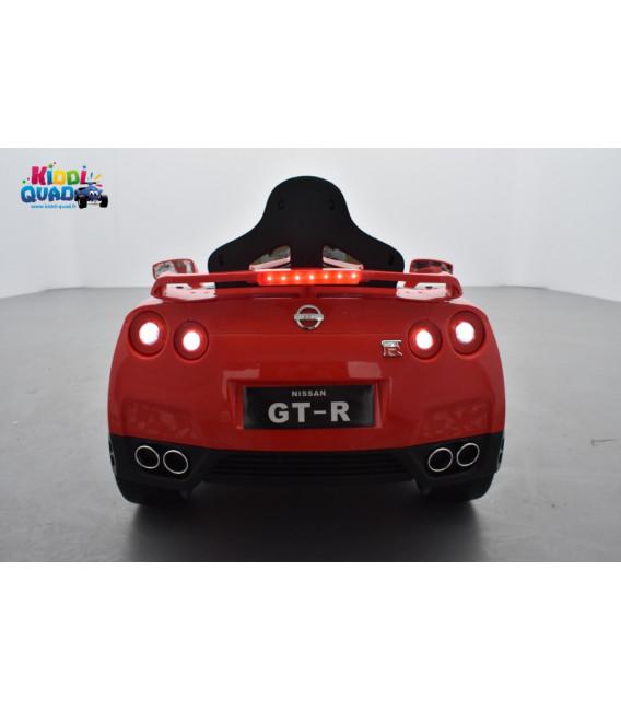 Nissan GT-R Rouge 12 volts, Voiture électrique pour enfant télécommande parentale 2.4 GHz, roues gomme