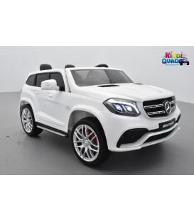 Mercedes GLS 63 4Matic 2 x 12V AMG Blanc, voiture électrique pour enfant, 12Volts - 4 moteurs