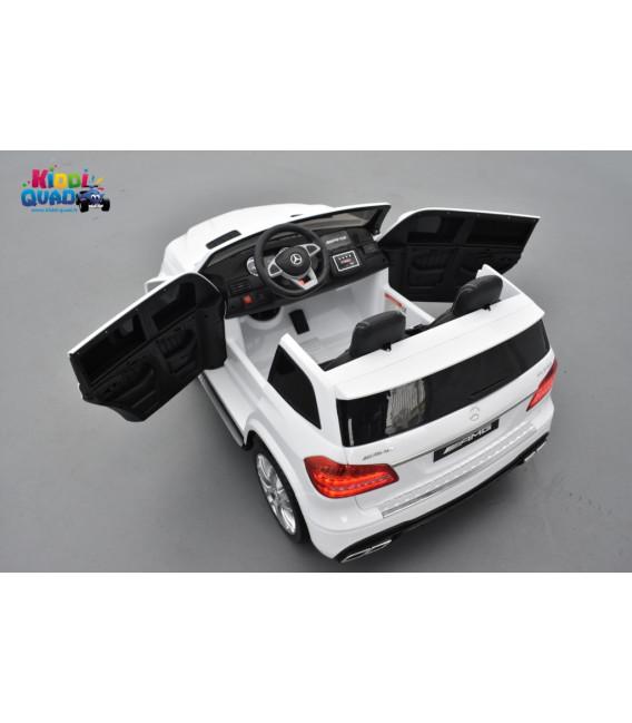 Mercedes GLS 63 4Matic AMG Blanc, voiture électrique pour enfant, 12Volts - 4 moteurs