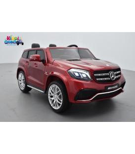 Mercedes GLS 63 4Matic 2 x 12V AMG Rouge Jacinthe, voiture électrique pour enfant, 12Volts - 4 moteurs