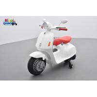 Scooter Blanc électrique pour enfant 12 volts
