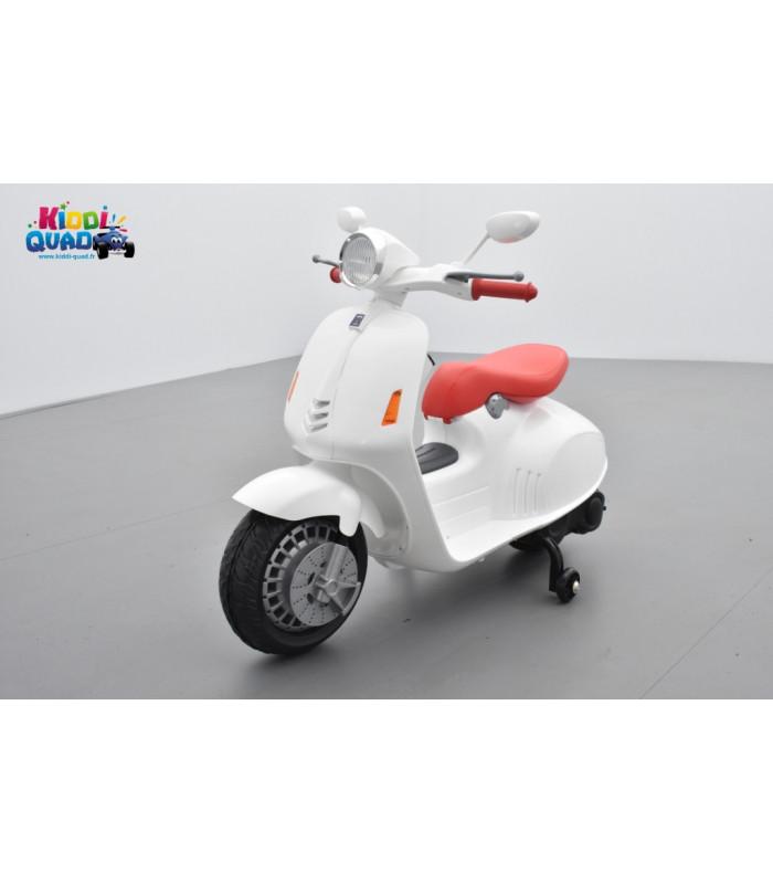 f28e77802e842 Scooter Blanc électrique pour enfant 12 volts - Kiddi-Quad