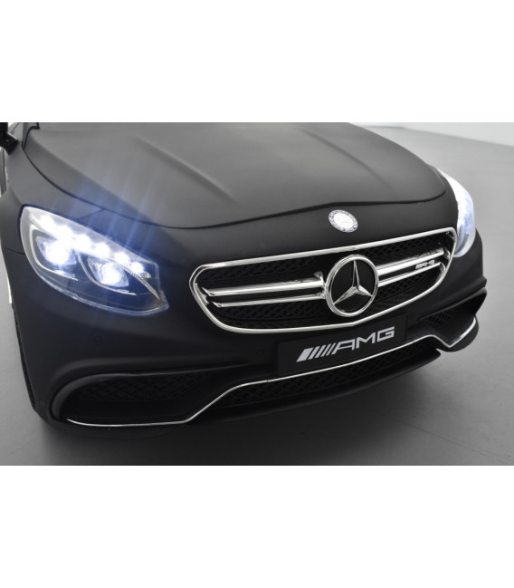 Mercedes S63 AMG Noir Mat, avec télécommande parentale, voiture électrique enfant, 12V7AH - 2 moteurs