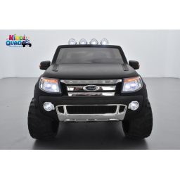 Ford Ranger Version Luxe noir mat avec télécommande parentale 2.4 GHz, voiture électrique pour enfant 2 places, 12 volts