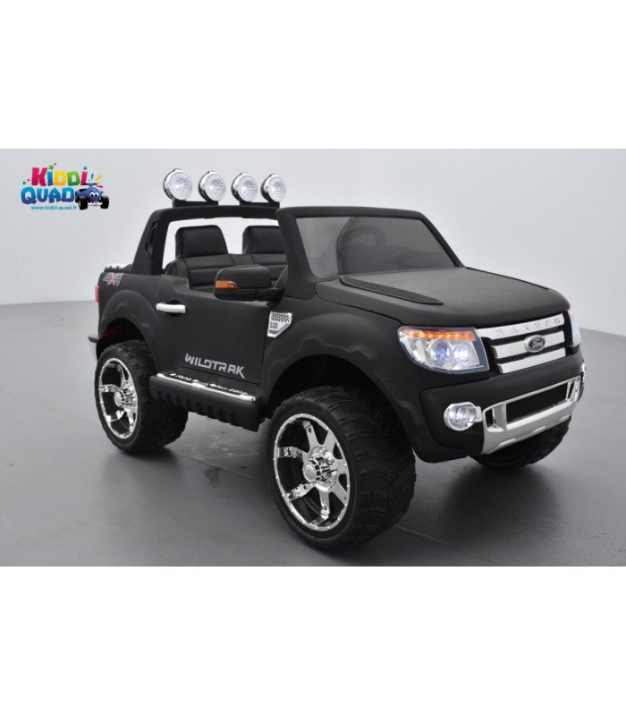 ford ranger 12 volts lectrique pour enfant noir mat version luxe. Black Bedroom Furniture Sets. Home Design Ideas