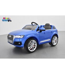 Audi Q7 S-Line Bleu Sepang métallisé, voiture électrique pour enfant 12 volts