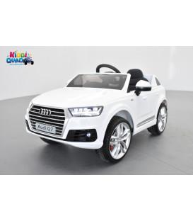 Audi Q7 S-Line Blanc Carrare, voiture électrique pour enfant 12 volts