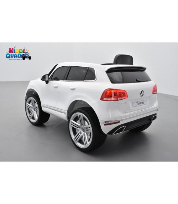 Volkswagen Touareg V6 TDI Blanc Pur, voiture électrique pour enfant 12 volts