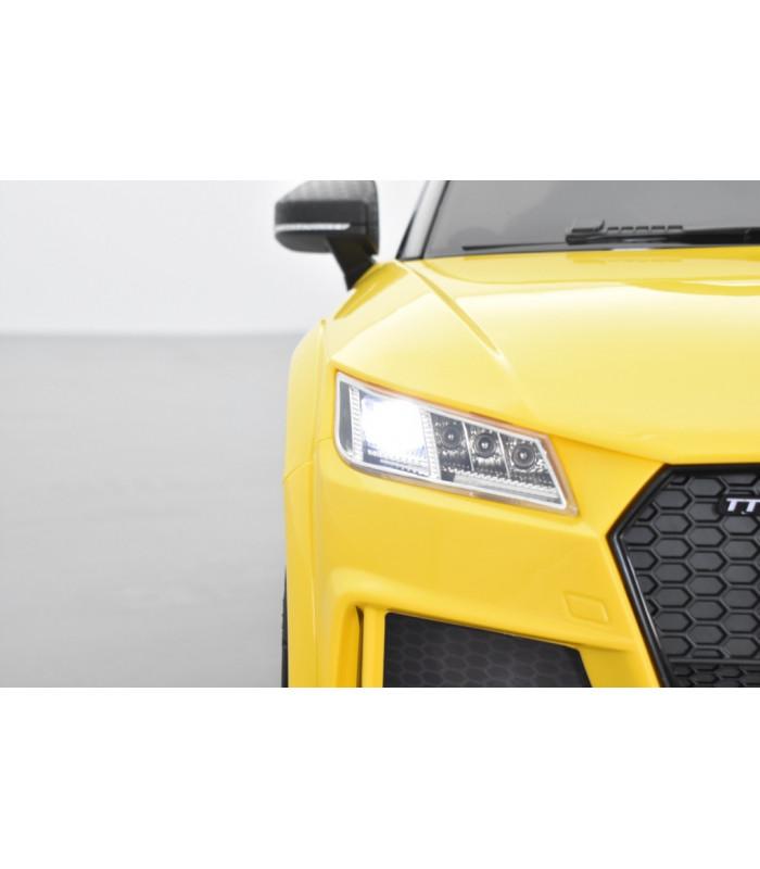 Audi TT RS 12 Volts Pour Enfant Jaune Avec Télécommande