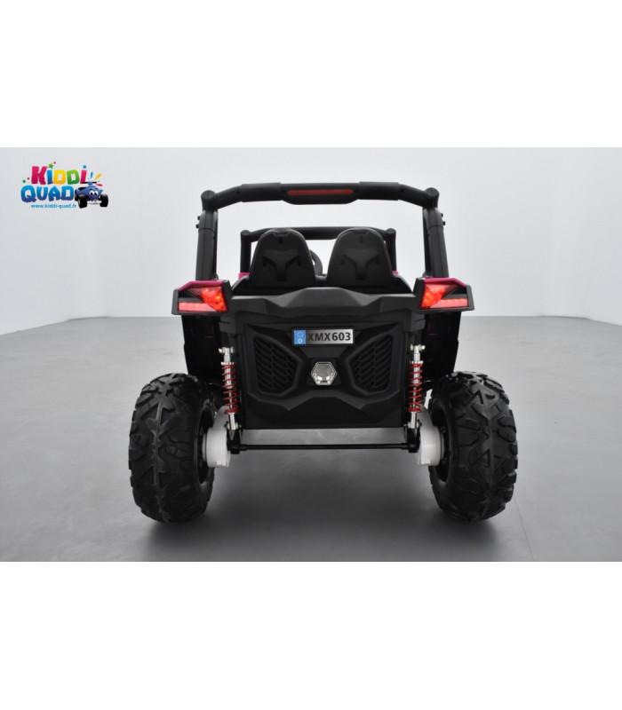 buggy utv rose 2 x 12v 4 roues motrices en gomme deux places voiture lectrique enfant kiddi quad. Black Bedroom Furniture Sets. Home Design Ideas