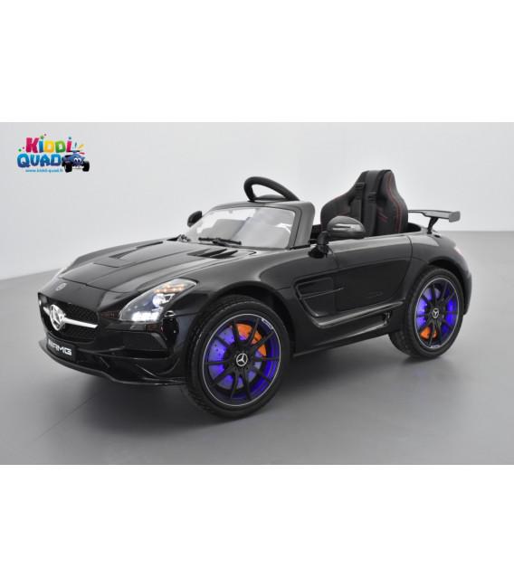 Mercedes SLS AMG Ligne Fascination Noir Magnétite, voiture électrique pour enfant, 12V - 2Moteurs