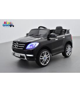 Mercedes ML350  Noir Métallisée, voiture électrique pour enfant, 12V - 2 moteurs