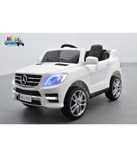 Mercedes ML350 Blanc, voiture électrique enfant, 12V7AH - 2 moteurs