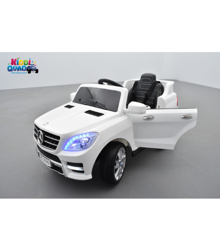 mercedes ml350 blanc voiture lectrique pour enfant 12v7ah 2 moteurs kiddi quad. Black Bedroom Furniture Sets. Home Design Ideas