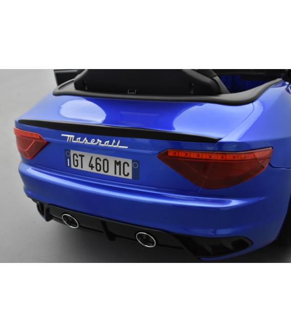 Maserati Gran Turismo MC Bleu Sofisticato, voiture électrique 12 volts pour enfant télécommande parentale 2.4 GHz
