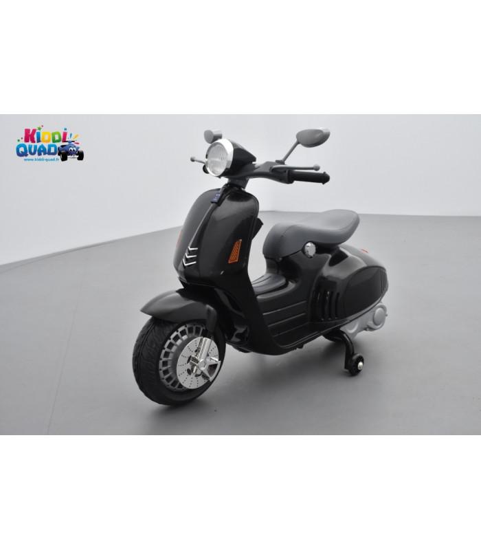 334f1f2d87b0c Scooter Noir électrique pour enfant 12 volts - Kiddi-Quad