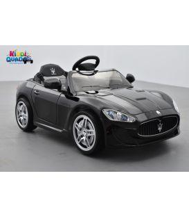 Maserati Gran Turismo MC Noir Carbonio, voiture électrique 12 volts pour enfant télécommande parentale 2.4 GHz