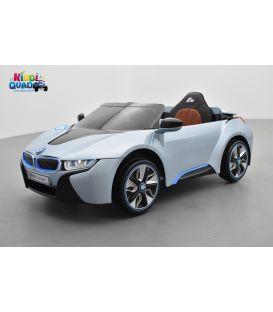 BMW I8 Bleu, voiture électrique pour enfant, 12 volts, 2 moteurs