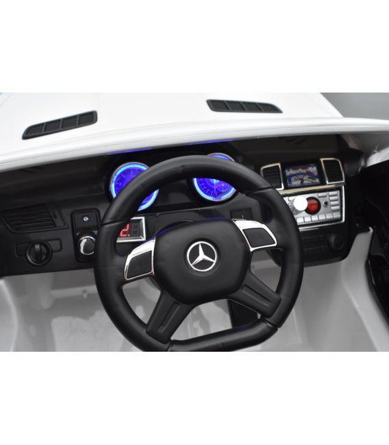 Mercedes GL63 AMG Blanc polaire, voiture électrique pour enfant, 12Volts - 2 moteurs