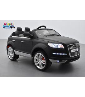 Audi Q7 Luxe Noir Mat, voiture électrique pour enfant 12 Volts