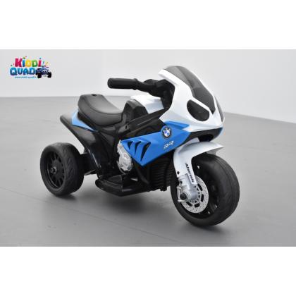 BMW S1000 RR bleu, tricycle électrique pour enfant 6 volts