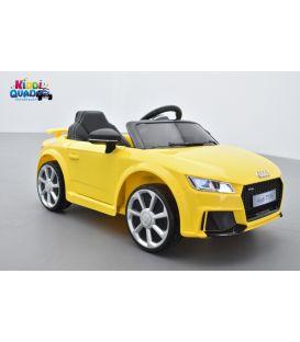 Audi TT RS Roadster 12 volts Jaune Végas, voiture électrique enfant télécommande parentale 2.4 GHZ, 12 volts, 2 moteurs