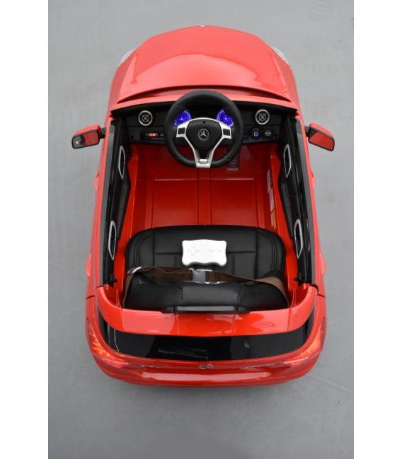 Mercedes A45 AMG Turbo Rouge Jupiter métallisé, avec télécommande parentale 2,4 Ghz, voiture électrique pour enfant 12V 7Ah, 2 m