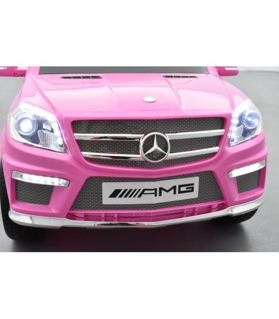 Mercedes GL63 AMG Rose, voiture électrique pour enfant, 12Volts - 2 moteurs