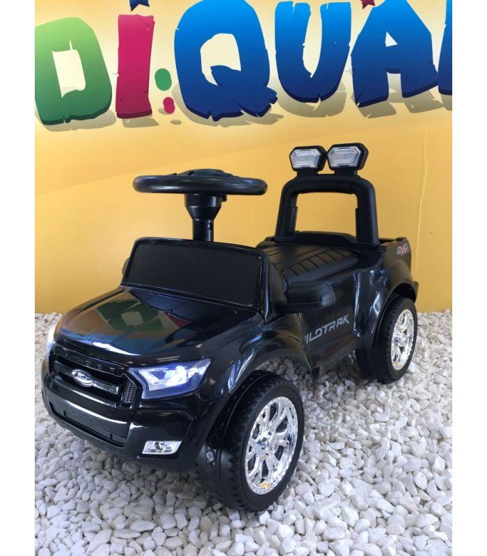 9d245442fa90 Trotteur voiture Ford Ranger noir, porteur pousseur ombrelle pour enfant