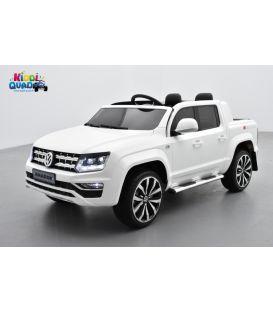 Volkswagen Amarok Blanc Candy, voiture électrique pour enfant, 12Volts - 2 moteurs