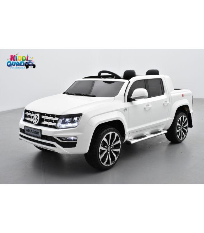 volkswagen amarok blanc candy voiture lectrique pour enfant 12volts 2 moteurs kiddi quad. Black Bedroom Furniture Sets. Home Design Ideas