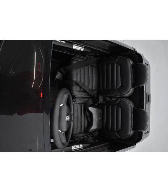 Volkswagen Amarok Black Deep métallisé, voiture électrique pour enfant, 12Volts - 2 moteurs