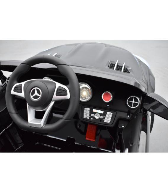 Mercedes SL 500 Noir Obsidienne Métallisée, voiture électrique pour enfant, 12Volts - 2 moteurs