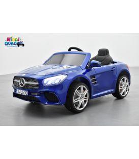 Mercedes SL 500 Bleu Executive Métallisée, voiture électrique pour enfant, 12Volts - 2 moteurs