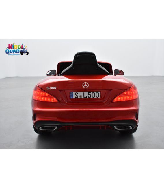 Mercedes SL 500 Rouge Designo Métallisée, voiture électrique pour enfant, 12Volts - 2 moteurs